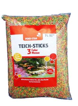 Pond Star Teich-Sticks Color-Menü 7L Beutel