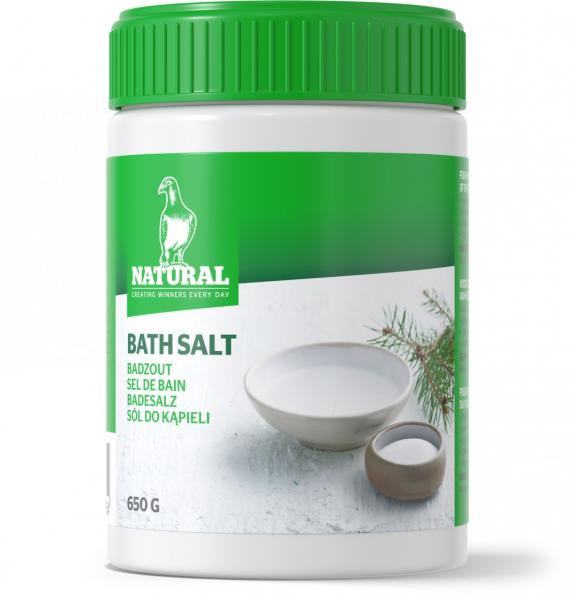 Natural Badesalz 650g